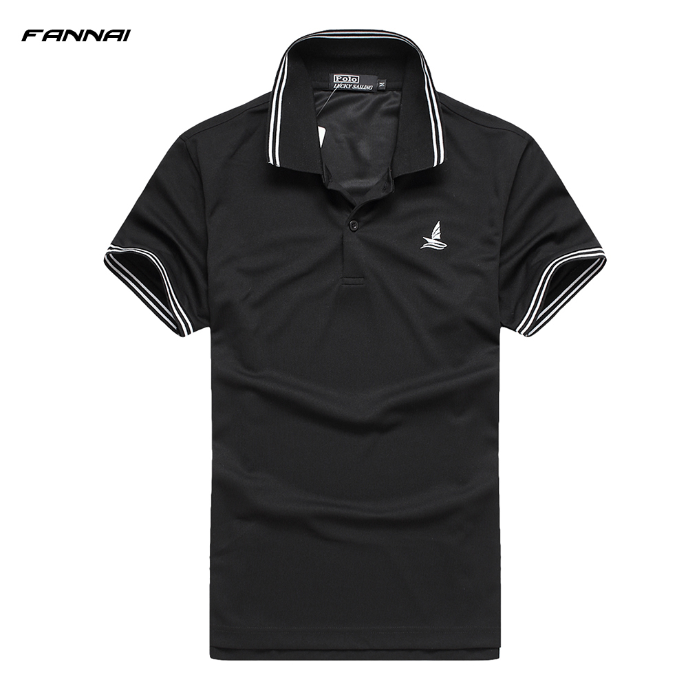 2019 Brand Mens   POLO   Shirts Pure colors Short Sleeve Casual Stand Collar Male breathable Shirt Fashion Quick-drying clothing