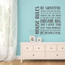 House Rules Quote Wall Sticker Family Quotes Decal Removable Living Room Home Lettering Decors Cut Vinyl Q292