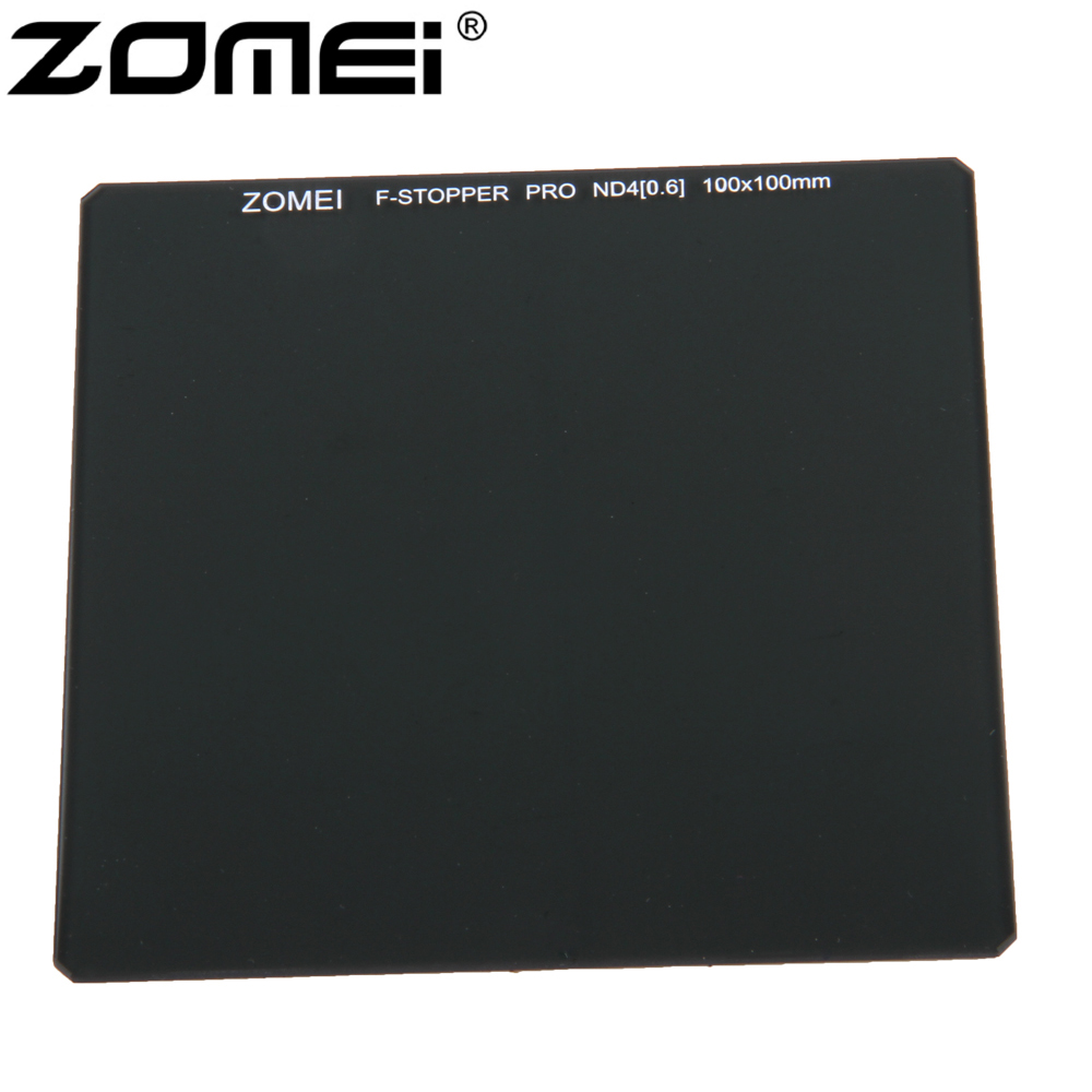 Zomei 100*100mm Square ND Optical Glass Neutral Density 6 stop/ND2 ND4 ND8 100% Glass Filter haida 100mm nd1000 optical glass neutral density nd filter 100 cokin z compatible