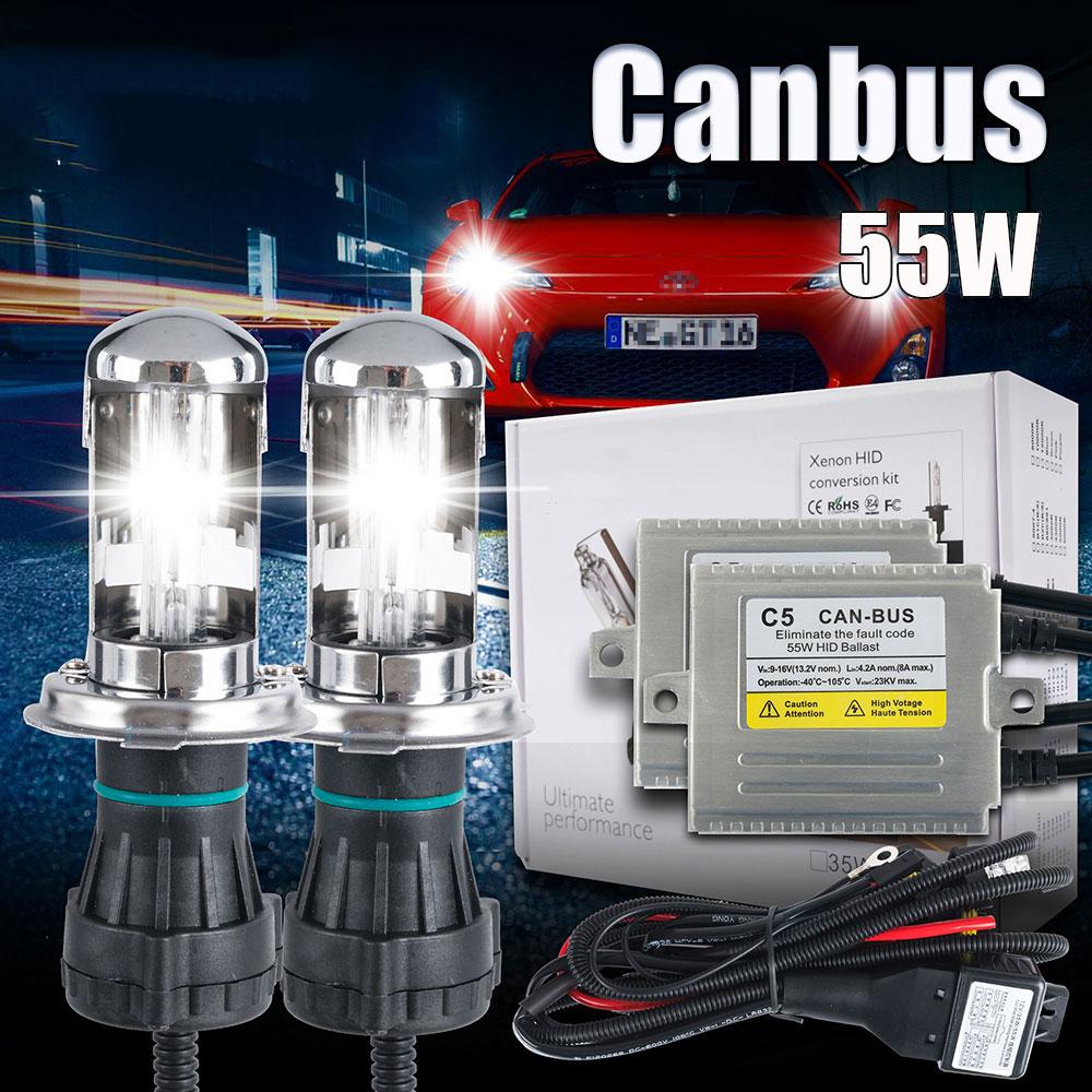 C5 55W CANBUS bi xenon H4 Hid conversion Kit high/low H/L beam headlamp ballast bulb car headlight цена 2017