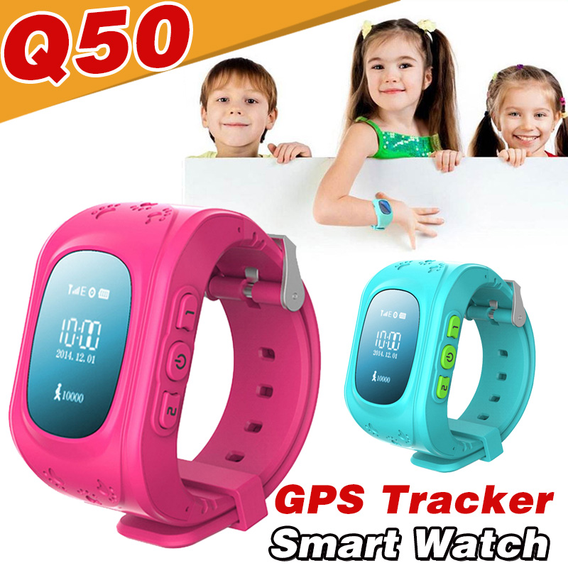 Q50 GPS SOS Enfants Enfants Anti-Perte Bluetooth SmartWatch Tracker Locator Montre Smart Watch pour Android IOS Apple téléphone VS A1 GT08 DZ09
