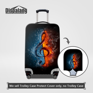 Dispalang Case For A Suitcase Musical Note Printing Travel Luggage Protective Cover Stretch Elastic Covers For 18-30 Inch Trunk