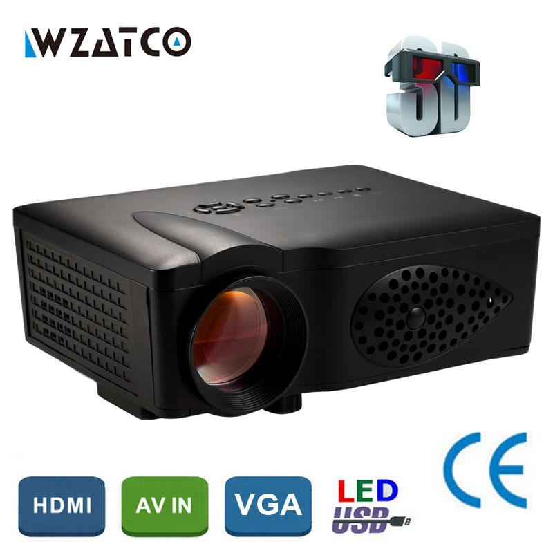 Prix pour New Home Cinéma 1600 lumens 800*480 Vidéo SD HDMI USB LCD LED mini Projecteur 3D HD 1080 P Beamer Proyector Projetor Moins Cher