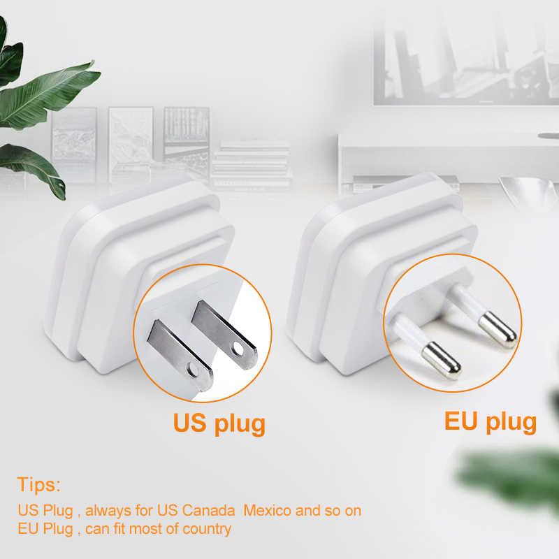 Lampu Malam LED Mini Sensor 110V 220V Uni Eropa Plug US Lampu Malam Lampu untuk Anak-anak Hidup kamar Tidur Lampu