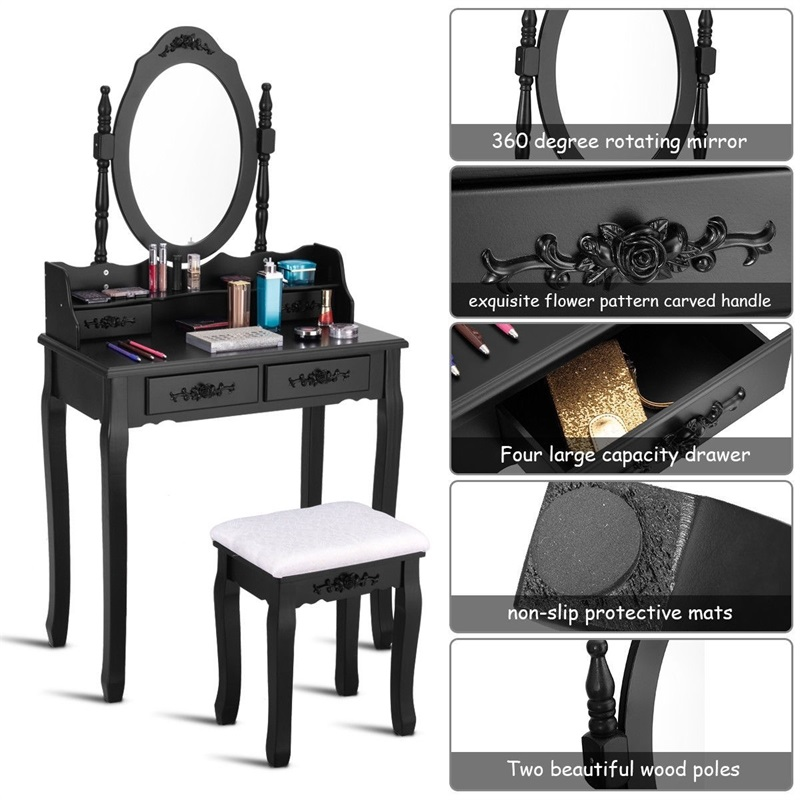 Зеркало для спальни деревянный туалетный столик табурет набор спальни Высококачественная Мебельная ручка HW52948 - 6