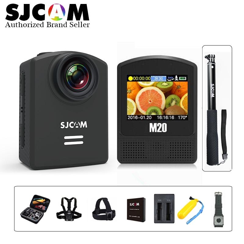 100% Original SJCAM M20 Gyro Mini Action Helmet Sports DV Camera 30M Waterproof 4K 24fps 2K 30fps NTK96660 16MP With RAW Format