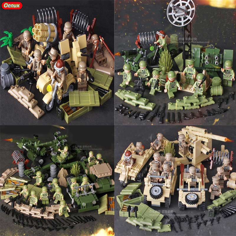 Oenux WW2 Tunisia Campaign Series Military Toy German 7th Panzer Division VS US 5th Infantry Division Army Building Block Toys корпус corsair obsidian series 350d window cc 9011029 ww