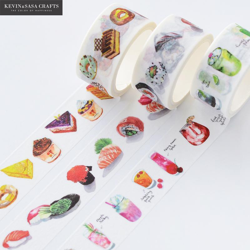 3Pcs/Set Washi Tape Colors Set Stationery Decorative Scotch Tape Scrapbooking Photo Album School Tools Kawaii Scrapbook Paper