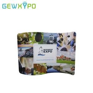 Image 4 - Présentoir facile en tissu, en forme de S 10 pieds (W)* 7,5ft (H) avec votre propre bannière dimpression, mur de toile de fond pour la publicité de Stand Expo