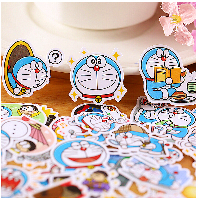 39pcs Creative Kawaii Self-made Doraemon Stickers/ Beautiful Stickers /decorative Sticker /DIY Craft Photo Albums