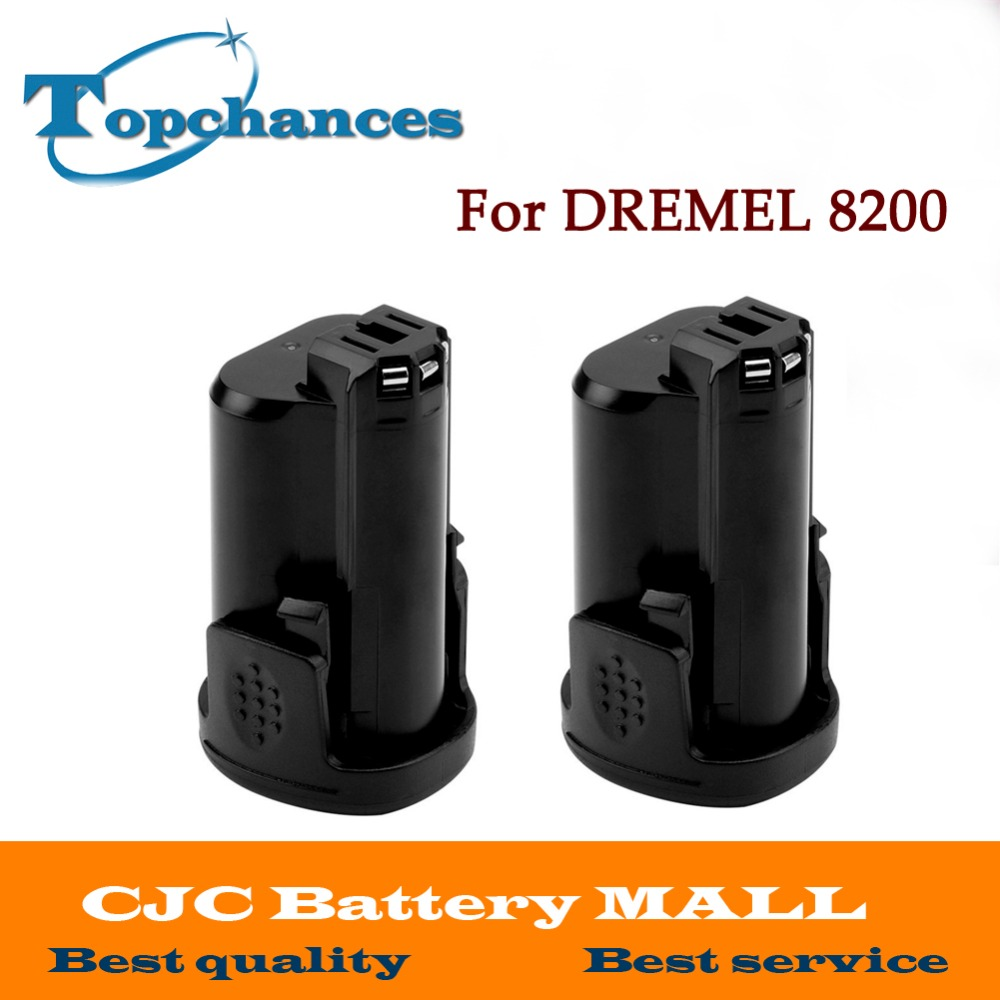 High Quality 2PCS Newest Replacement 12V 2000mAh Li-ion battery for DREMEL 8200, 8220, 8300, B812-01,B812-02
