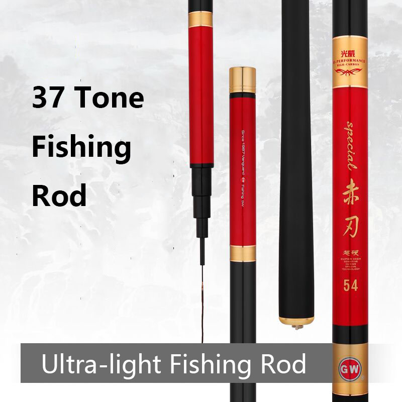 3.6-5.4m Carbon Taiwan Fishing Rod Hand Pole Crucian Carp Super Light Adjustable 37 Tune все цены