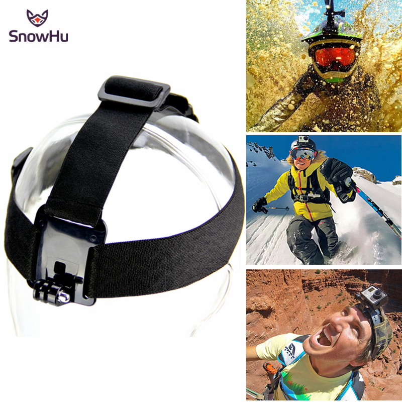 SnowHu Head Strap Action Camera For Gopro Hero 5 4 3 Black Elastic Type For Sport Cameras For Xiao Mi Yi SJ4000 Accessories GP23 gopro accessories head belt strap mount adjustable elastic for gopro hero 4 3 2 1 sjcam xiaomi yi camera vp202 free shipping