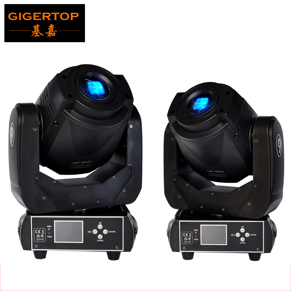 Freeshipping 2PCS New 90W Led Moving Head Spot Light Taiwan Tyanshine Leds DMX512 6/16CH Controller Full Color LCD Display led светильник bao workers in taiwan led