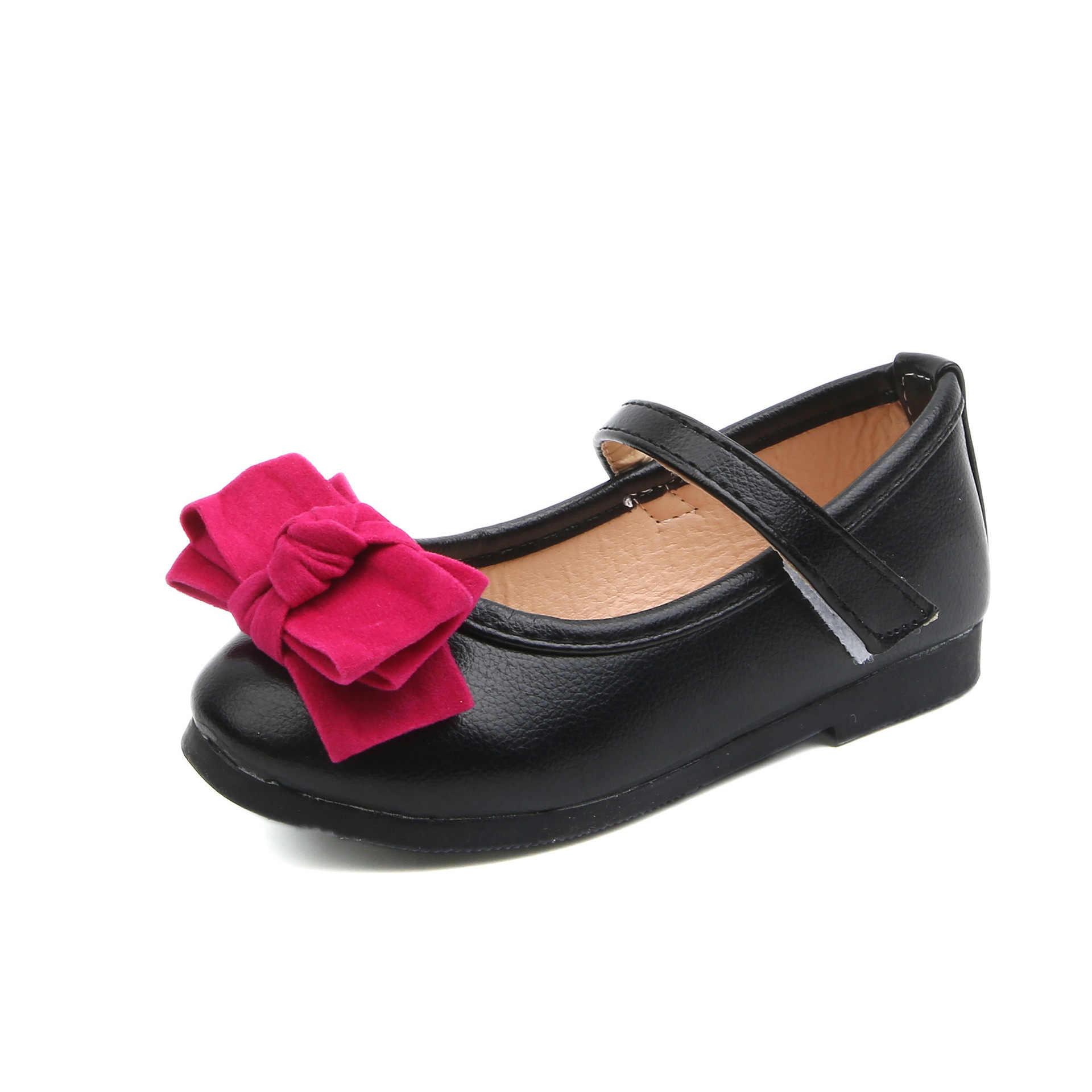 e3650412745 COZULMA niñas de cuero suave arco grande de moda Zapatos planos con zapatos  de niños niño