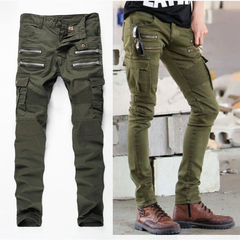 Popular Green Jeans Men-Buy Cheap Green Jeans Men lots from China ...