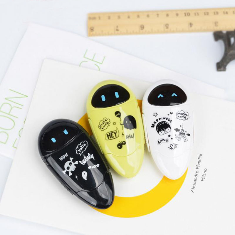 1 Pcs Cute Robots Kawaii Correction Tape Cartoon 5mm*8M Correction Tape For Kids Gift School Supplies Korean Stationery