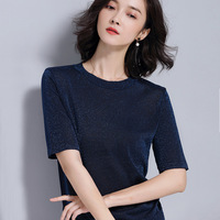 Women Knitted Short sleeve Sweaters and Pullovers Female Jumpers Women High Quality Sweaters Solid color for spring and summer