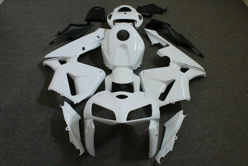ZXMT Full Fairing Set Kit Motorcycle Complete ABS Bodywork For CBR600RR 2005 2006 Unpainted White CBR 600RR F5 05 06