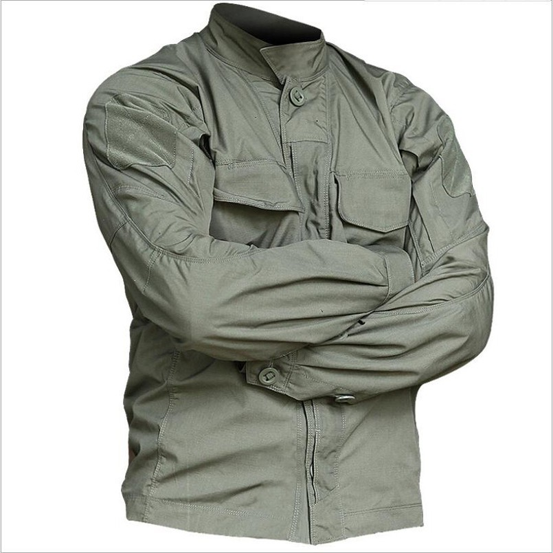 Newest Tactical Long Sleeve Shirt Military Tactical Soldiers Uniform High Quality Multi-Pockets Cargo Shirts Camouflage Clothes 1