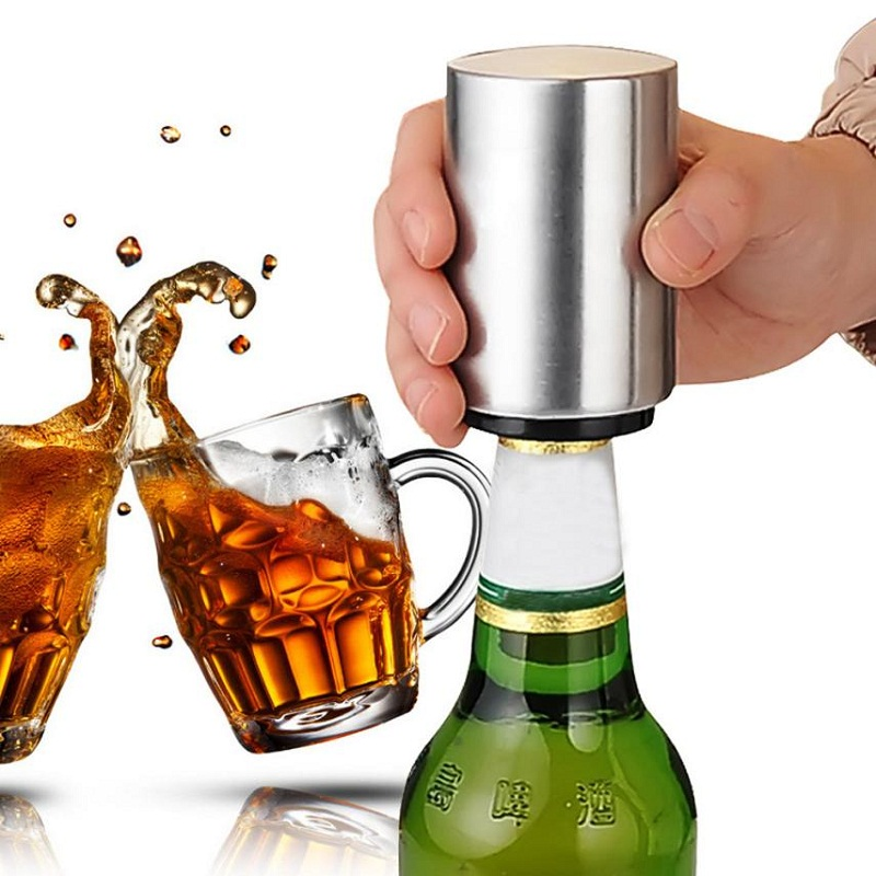 Stainless Steel Beer Bottle Opener Automatic Bottle Openers Beer Soda Cap Red Wine Bottle Opener Bar Kitchen Tools Accessaries