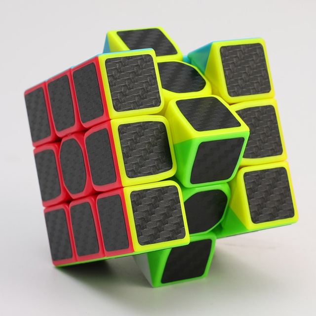 2017 3x3x3 Carbon Fiber Sticker Cube Speed Smooth   Fidget Cube Magico Educational Brain Teaser Toys For Children Adult