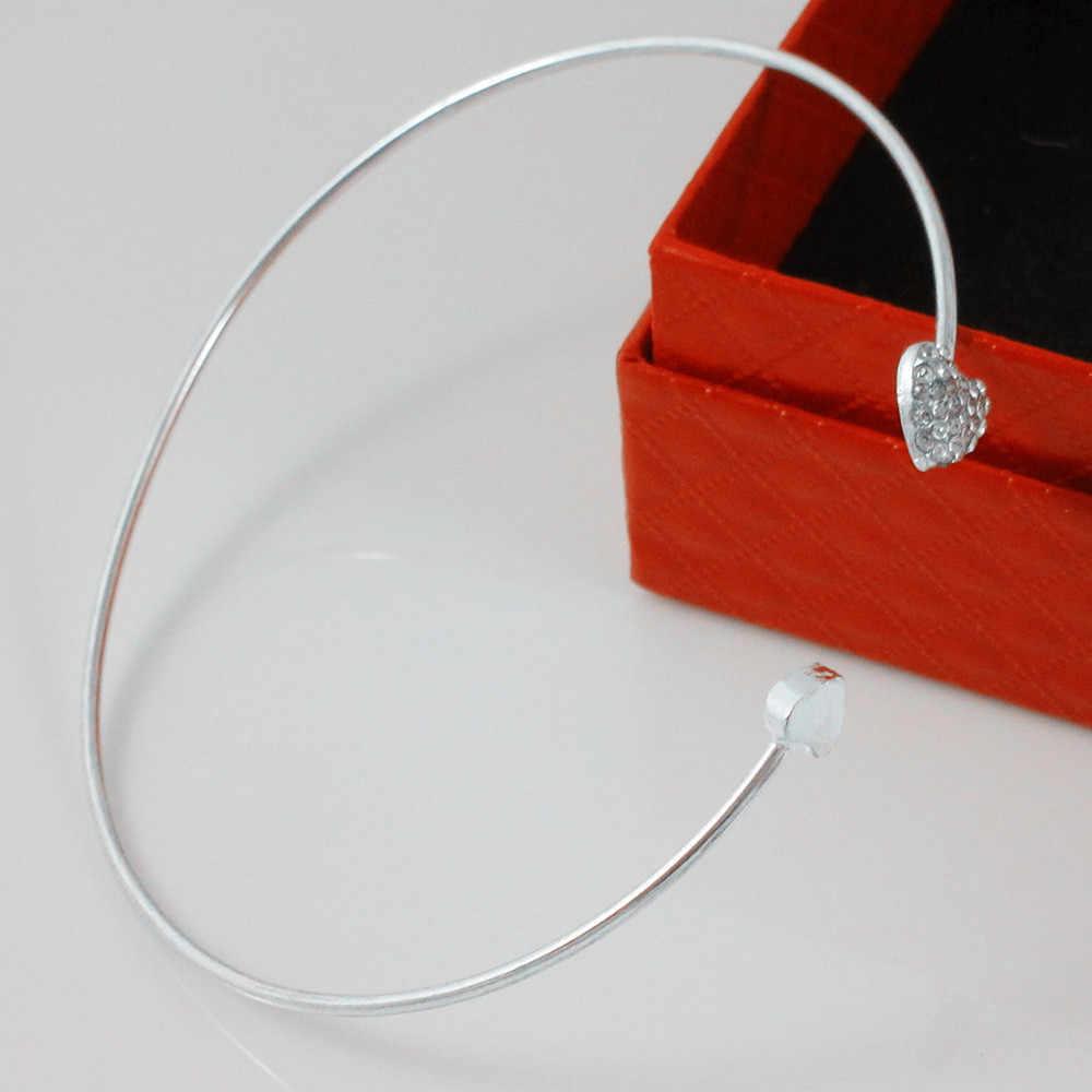Pulsera elegante salvaje para Mujer, pulsera romántica estilo bohemio, pulsera con apertura de corazón para Mujer, pulsera de pareja L0514