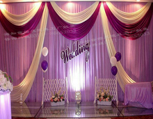 10ft x 20ft Wedding Backdrop Stage Curtain Event Decoration