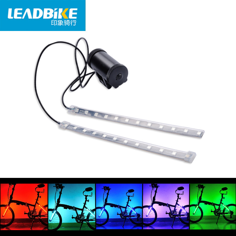 Leadbike New 2017 Bike Front / Tail Light Fork Light 8 Models 24 Led MTB Road Bicycle Safety Warning Rear Lamp For Night Liding