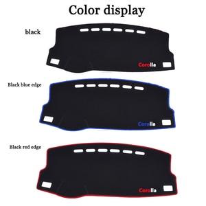 Image 5 - Car Dashboard Avoid light Pad Instrument Platform Desk Carpets For Toyota Corolla 2006 2013 2014 2015 2016 2017 2018 cover Mats