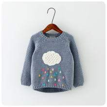 New winter cartoon baby boys and girls sweater cloud raindrops kids clothes children sweater warm long sleeve for girls knitwear