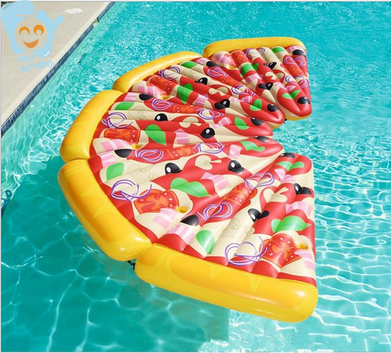 175cm Inflatable Pizza Slice Swimming Float Inflatable Floating Mattress Pool Water Fun Raft
