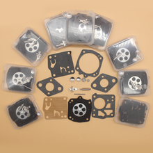 10Pcs/lot Carburetor Diaphragm Rebuild Kit For HUSQVARNA 61 65 66 77 162 181 266 268 XP XPS 272 281 288 480 2100 2101 HS RK-23HS