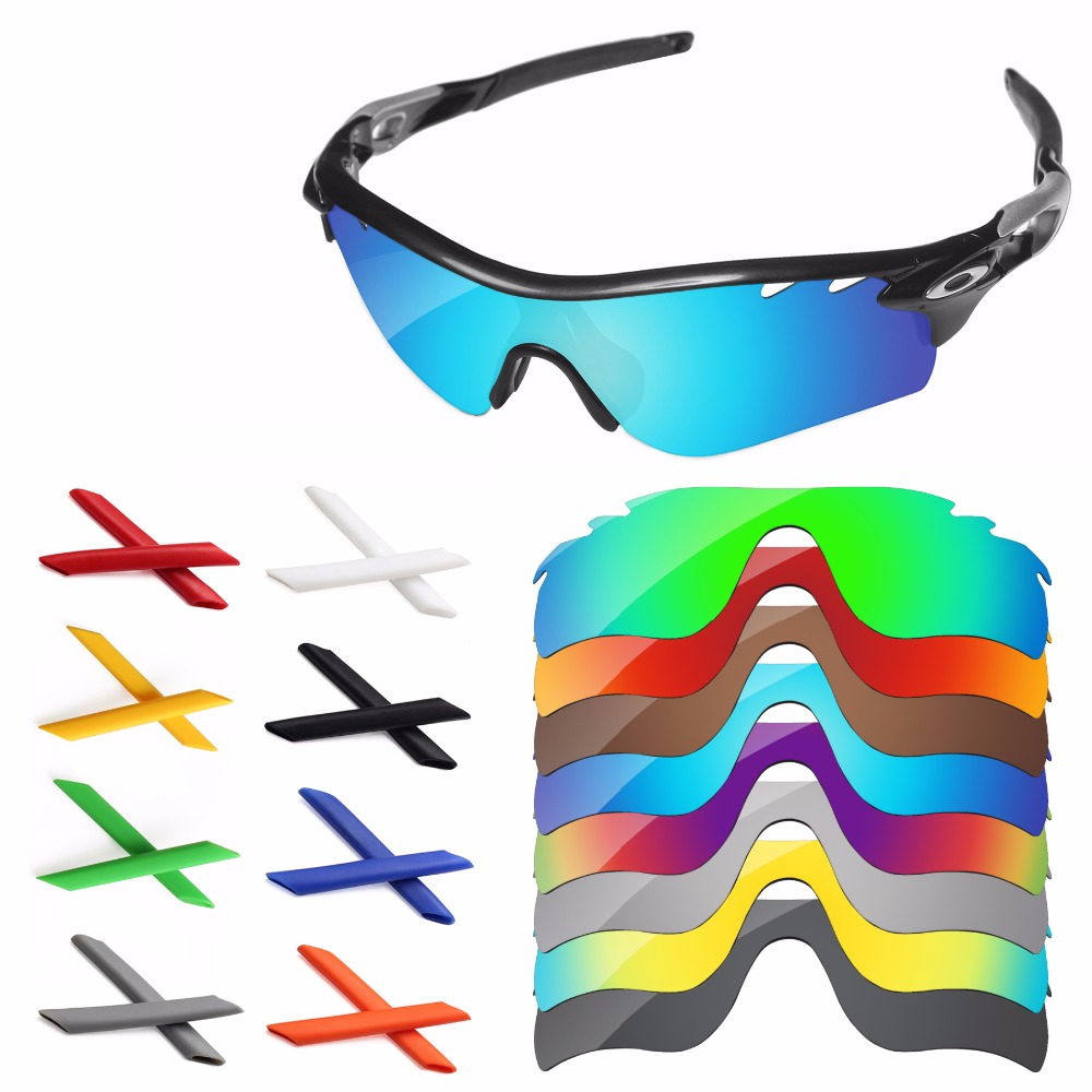 dc4235df2dd4 PapaViva Polarized Replacement Lenses and Earsocks for Authentic Radarlock  Path Vented Sunglasses Frame - Multiple Options