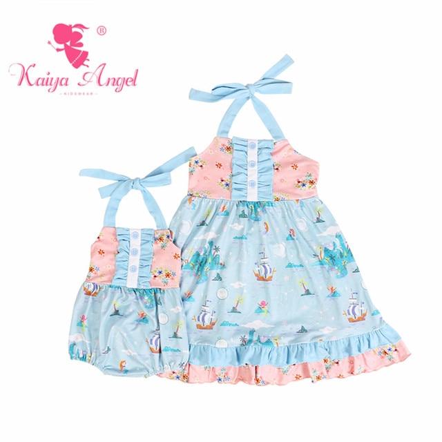 0671233deab0 Kaiya Angel 2018 Summer Clothes Newborn Light Blue Pink Ocean ...