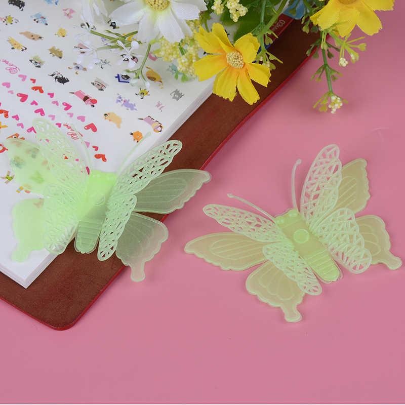6 unids/set luminoso Kawaii mariposa brilla en la oscuridad juguete bebé guardería niños regalos