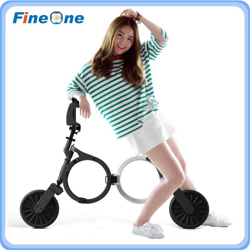 2017 Backpack E-bike Folding Electric Bike Scooter 2 Wheel Foldable Adult Scooter Mini Smart Motor Wheel Electric Scooter Skate 2 wheel electric scooter skateboard lightest carbon fiber folding bike steering wheel kick scooter adult hoverboard lg battery