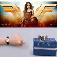 2017 Movie Wonder Woman Princess Diana Prince Logo Cosplay Metal Finger Rings Pendants Gift Accessory With