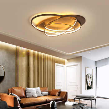 Modern Simple Brown/White LED Ceiling light Remote control Ceiling lamp dining living room lighting kids bedroom home fixtures