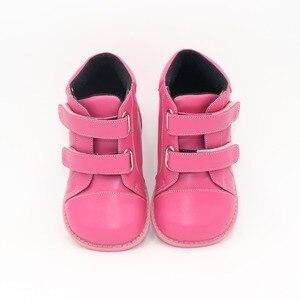 Image 2 - Tipsietoes 2020 nowe zimowe dziecięce buty skórzane Martin połowy łydki dzieci śnieg dziewczyny chłopcy kalosze moda Sneakers