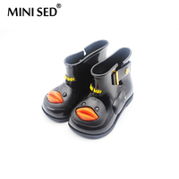 MINISED Original Brand Yellow Duck Rainboots Jelly Children Boots Water Shoes Girl Shoes Comfortable Girl Boots