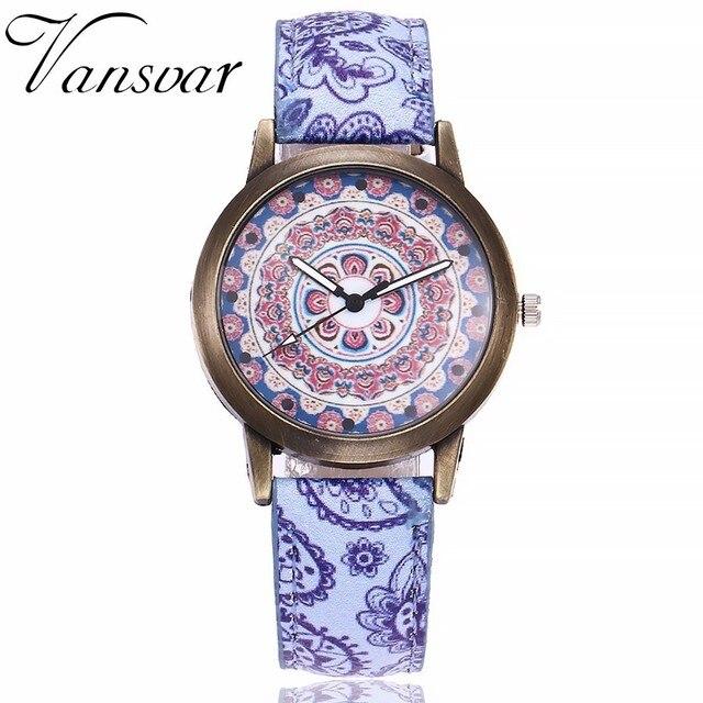 Dropshipping Women Creative Flower Watches Ladies Fashion Casual Leather Quartz Wristwatches Gift Clock Relogio Feminino Hot 4