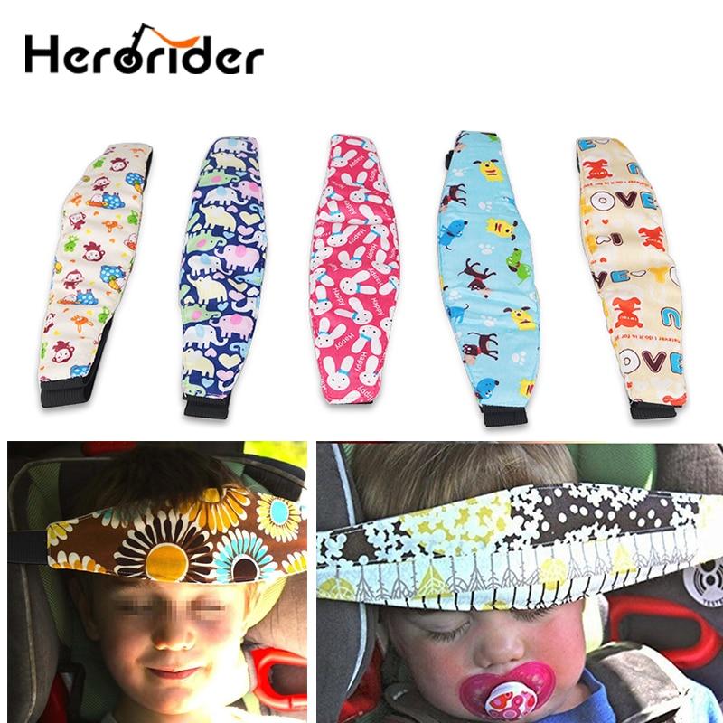 Herorider Car Safety Baby Sleeping Head Belt Children Kid Fixing Band Car Seat Sleep Nap Positioner Baby Sroller Holder Belt