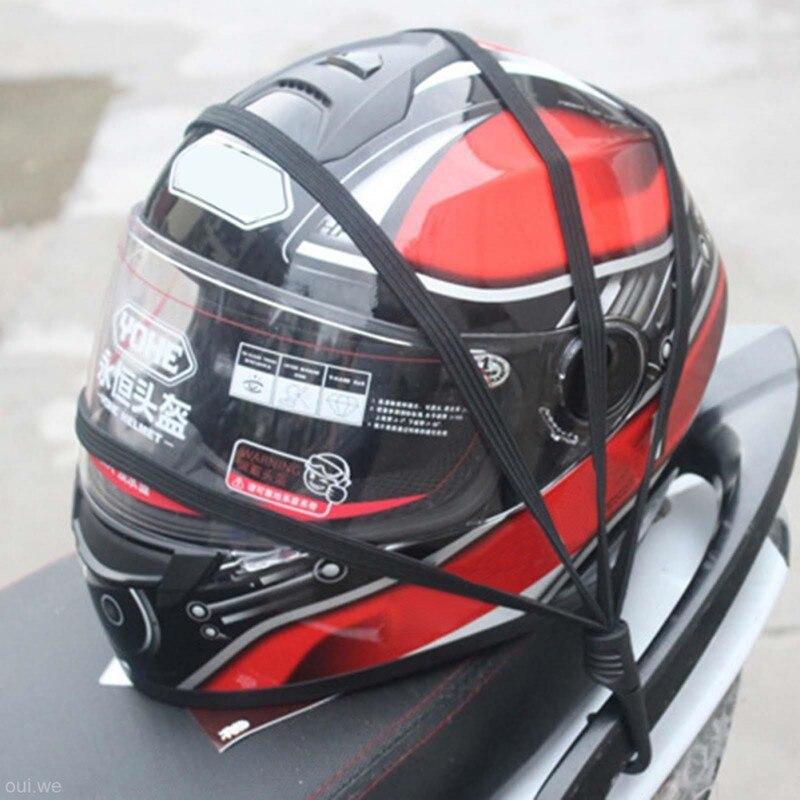New Universal Moto Helmet Mesh Net Motorcycle Luggage Net Protective Gears Luggage Hooks Motorcycle Accessories Organizer Holder