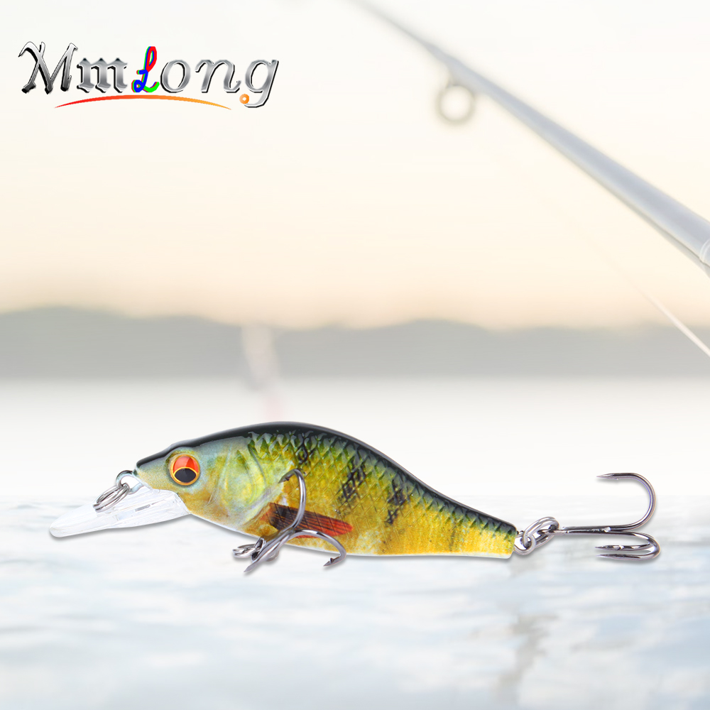 Mmlong 9cm Top Water Fishing Lures Crank bait SAH11B 10.7g Perch fish pesca hooks tackle Artificial Crankbaits floating wobblers
