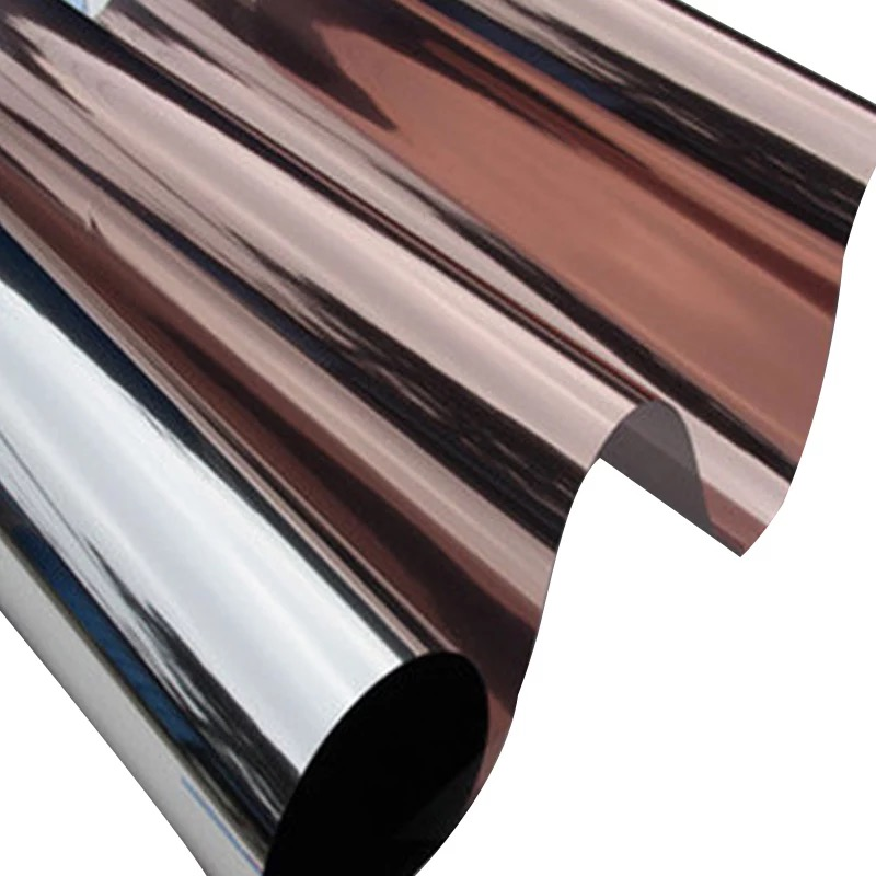 Copper Silver Brown Solar Mirror One Way Privacy Window Film Reflective Glass Sticker Home Bedroom Decorative Length 500cm