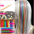 100pcs/lot Feather Hair Extensions Loop Grizzly Solid Zebra Lines Highlight Extensions Wholesale I-tip Hair Extension