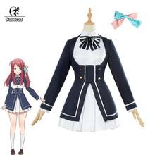 ROLECOS Zombieland Saga Cosplay Costume Sakura Minamoto Cosplay Costume Anime Women Costume Lolita Dress