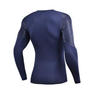 Image 2 - (Break Code) li Ning Men ฐานชั้นที่แห้ง FIT 88% โพลีเอสเตอร์ 12% Spandex แขนยาวซับกีฬาเสื้อยืด AUDN141 MTL1002
