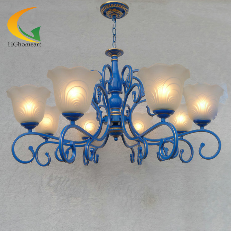 Wrought iron chandelier lighting rustic Mediterranean restaurant retro living room bedroom lamp minimalist chandeliers wrought iron chandelier aircraft lamp boy children master bedroom room led chandeliers creative cartoon